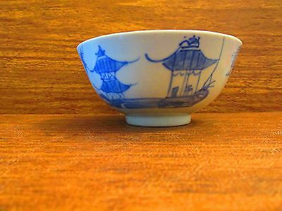 Late 18Th Century Chinese Blue & White Canton Export Porcelain Bowl