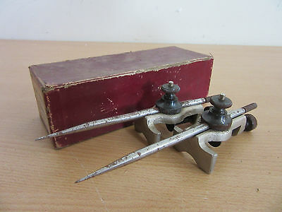 Vintage Starrett No 59-A Trammels with box