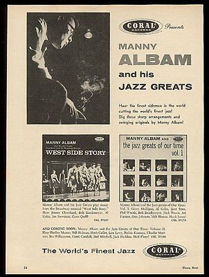 1957 Manny Albam photo Coral Records vintage print ad