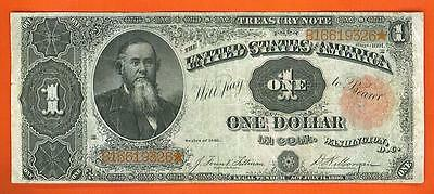 1891 $1.00 HISTORIC Large U.S. TREASURY COIN Note!!