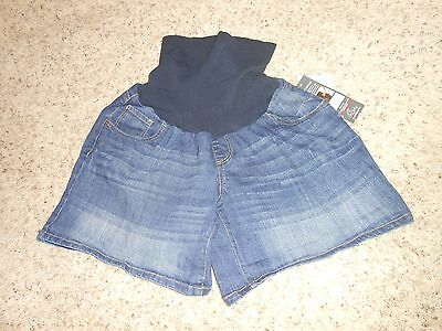 New Oh Baby Maternity Shorts Size XL Full Panel Denim Jeans $40