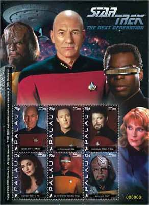 Palau 2008 Star Trek The Next Generation 6 Stamp Sheet #945 16D-102