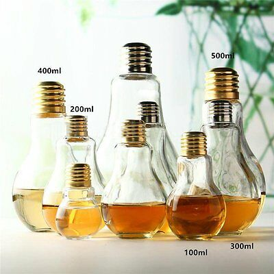 Summer Water Milk Drink Bottle Light Bulb Plant Flower Vase Container Home Decor