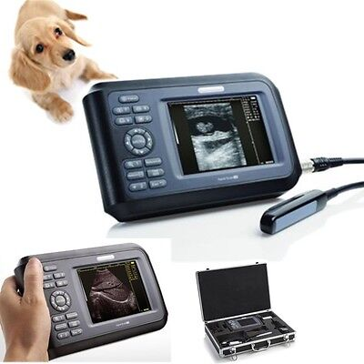 Portable Veterinary Medcial ultrasound Scanner Machine Animal rectal Probe CE