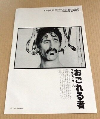 1980 Frank Zappa w/ snake JAPAN mag photo pinup / mini poster picture f04m