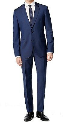 Hugo By Hugo Boss NEW Blue Mens Size 42R Slim Two Button Wool Suit $695 #275