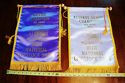 Dixie National Livestock Show and Rodeo Lot of 2 Red Angus Champion Awards Logo