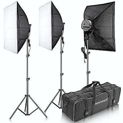 "Neewer 3000W 5500K 20""x28"" 5 Socket Softbox Photo Video Studio Lighting Kit"