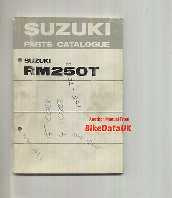 Genuine Suzuki RM250-T (1980) Parts List Catalogue Book Manual RM 250 Twinshock