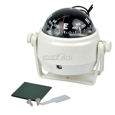 Sea Marine Pivoting Compass For Dashboard Dash Mount Marine Boat Truck S0BZ01