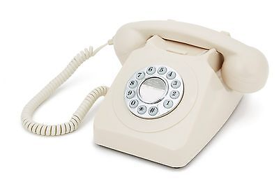 GPO 746 Retro 1970's Push Button Telephone With Authentic Bell Ringer | Ivory