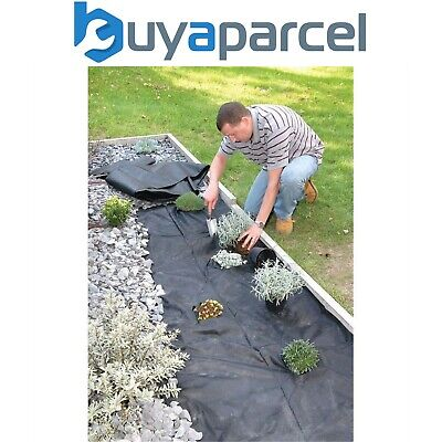 2 x Weedstop 1.5m x 8m Weed Control Sheet Matting Fabric Membrane Cover 50gsm