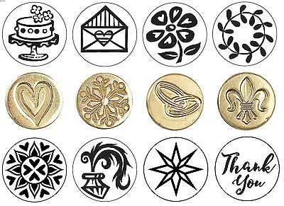 Manuscript Decorative Wax Seal Sealing Coins 12 New Designs For Blank Handle