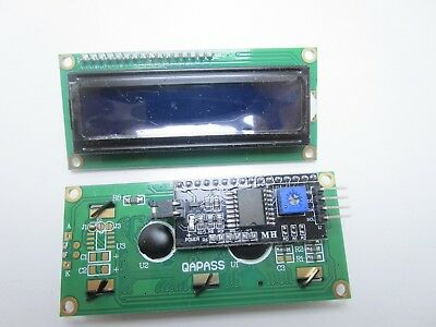 Display lcd blu 1602A 1602 16X2 con modulo interfaccia seriale I2C IIC arduino