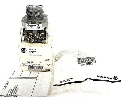 Nib Allen Bradley 800T-J2Kc1 Selector Switch 30Mm, Ser. T W/ 184863