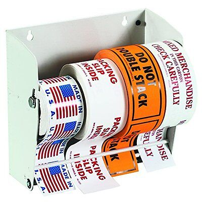 Tape Logic TLLDM850 Wall Mount Label Dispenser 8 1/2in White 1/Each