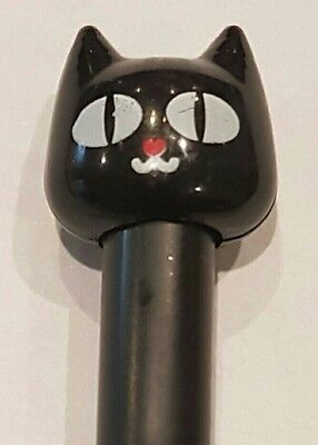 Black Cat Liquid Black Ink Pen Cute Kitty Cat UK SELLER