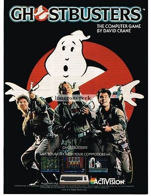 1984 Activision Ghostbusters Computer Game Bill Murray Dan Akroyd Vtg Print Ad