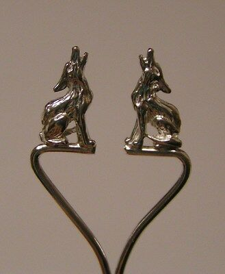Salt Spoon Sterling Silver ( w/2 Wolf )