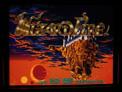 Wizard Fire -- Data East / Original Work & Clean / Arcade Jamma Pcb  **  606