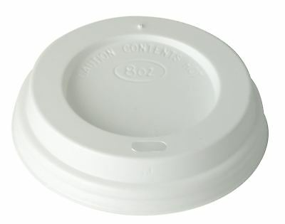 50 x White Domed Sip-through Lid To Fit 8oz, 12oz and 16oz Ultimate Hot Cups