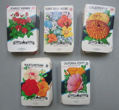 Wholesale Lot of 500 Old Vintage FLOWER SEED PACKETS - Texas - Lone Star Seed Co