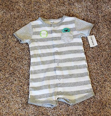 NWT 9 Months Carter's Cute Little Monster Baby Boy Summer Outfit NEW