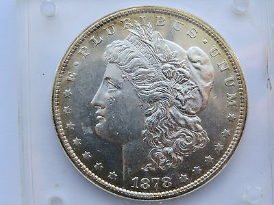 1878 MORGAN DOLLAR 8 tail feathers t/f UNC