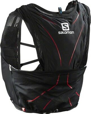 Salomon ADV Skin 12 Set Hydration Vest: Black/Matador SM