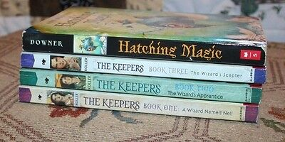 Lot of 4 Paperback Books Hatching Magic & The Keepers 1, 2, & 3 (Nice Condition)