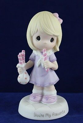 Precious Moments - Girl Holding Peppermint Candy Figurine - You're My Flavorite