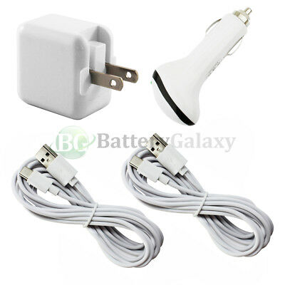 2 USB 10FT Type C Cord+Car+Wall Charger for Motorola Moto Z/Z Force/Play Droid