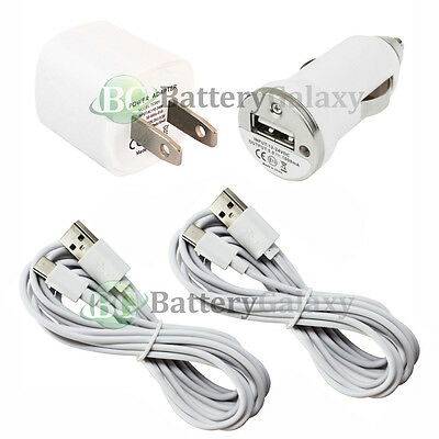 2 USB 10' Type C Cord+Car+Wall Charger for Motorola Moto Z/Z Force/Play Droid
