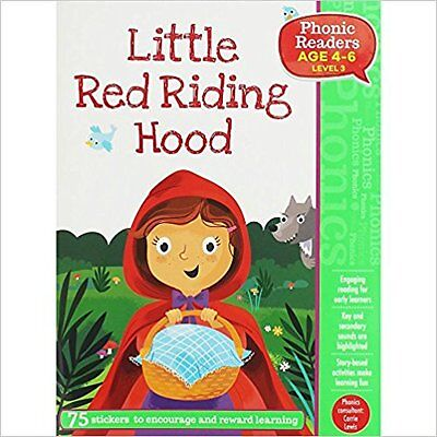 LITTLE RED RIDING HOOD - PHONIC READERS LEVEL 3 age 4-6