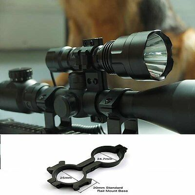 CREE 1200LM T6 Tactical Scope Mount Flashlight Lamp Hunting Gun Air Rifle Torch