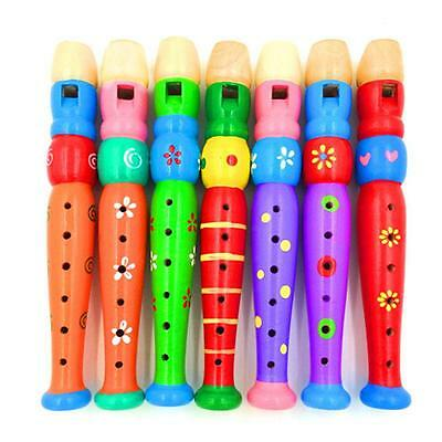 Baby Toddler Educational Toys Kids Musical Instrument Wooden Flute Whistle Toys