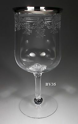 """Lenox Crystal Lace Point Water Goblets  7 1/8"""" - Perfect"""