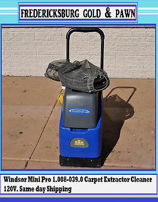 Windsor Mini Pro 1.008-039.0 Carpet Extractor Cleaner 120V. Same day Shipping!