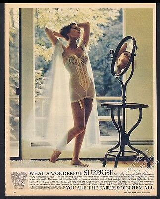 1961 Surprise lingerie corselette woman color photo vintage print ad