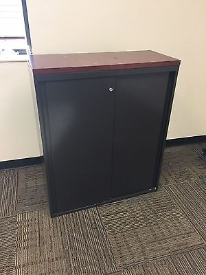 """36""""W x 15""""D x 43""""H BOOKCASE w/TOP w/ SLIDING DOORS by STEELCASE OFFICE FURNITURE"""