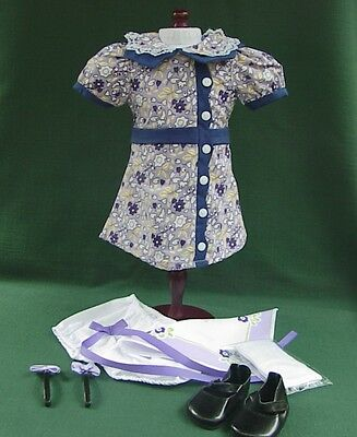 Ruthie AMERICAN GIRL Doll MEET Outfit REPRO DRESS SHOES SOCKS BLOOMERS HANKIE ++