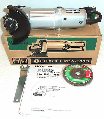 """New Hitachi 4"""" Angle Disc Grinder 12,000RPM 110V w/ Wrench and Disc NIB PDA100D"""