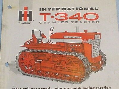 Vintage International Harvester T-340 Crawler Tractor Brochure Ih