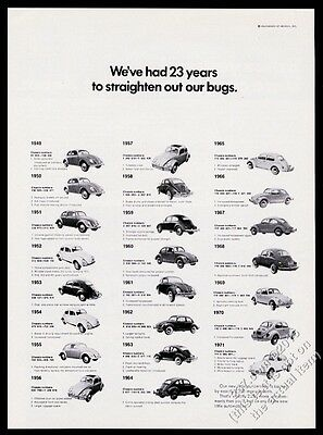 1971 VW Beetle classic car bug all since 1949 photo Volkswagen vintage print ad