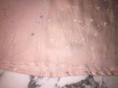 Vintage 30's to 40's silk and lace blush slip with lace size small