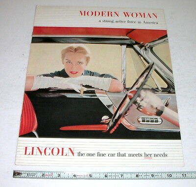 1952 Lincoln  Dealer Sales Brochure  Original