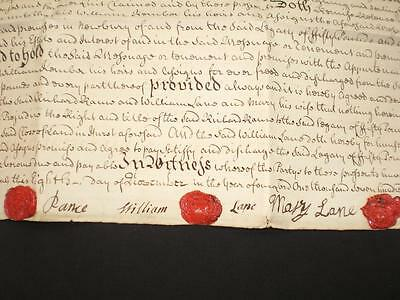 1760 Document, Hurst & Newbury, Berkshire & Wax Seals, A-Grade
