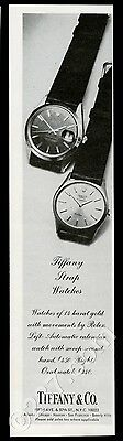 1972 Rolex watch 2 models Tiffany's branded photo vintage print ad