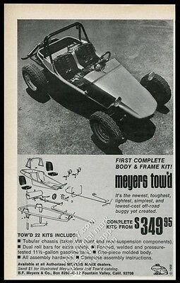1968 Meyers Tow'd dune buggy photo vintage print ad
