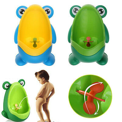NEW Baby Kid Children Potty Urinal Toilet Training Boy Bathroom Frog Pee Trainer